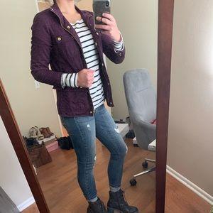 J. Crew Boyfriend field jacket in purple
